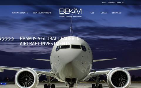 Screenshot of Home Page bbam.com - BBAM Aircraft Leasing & Management - captured Nov. 13, 2018