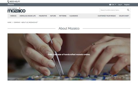 Screenshot of About Page mozaico.net - Company - About Us | Mozaico.net - captured Nov. 5, 2014