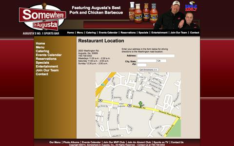 Screenshot of Maps & Directions Page somewhereinaugusta.com - Somewhere In Augusta - Our Locations - captured Oct. 7, 2014