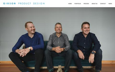 Screenshot of Team Page gibsonproduct.com - Our Team - Gibson Product Design - Industrial Design - Product Development - Ottawa - captured Sept. 28, 2018