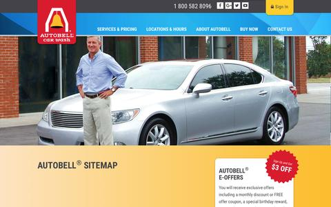 Screenshot of Site Map Page autobell.com - Sitemap | Autobell Car Wash - captured Nov. 19, 2016