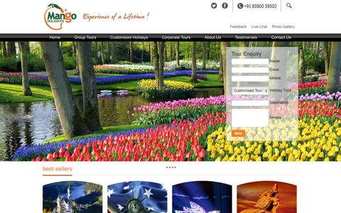 Screenshot of Home Page mangoholidays.in - Welcome to Mango Holidays... - captured Sept. 29, 2014