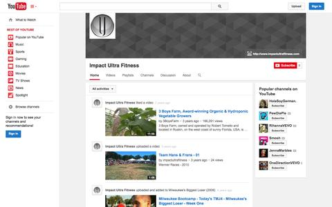 Screenshot of YouTube Page youtube.com - Impact Ultra Fitness  - YouTube - captured Oct. 23, 2014