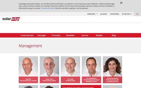 Screenshot of Team Page solaredge.com - Management | SolarEdge - captured May 2, 2018