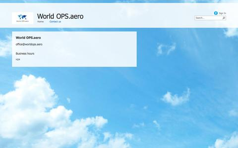 Screenshot of Contact Page worldops.aero - Contact us - captured Oct. 7, 2014