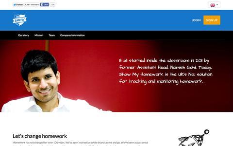 Screenshot of About Page Contact Page showmyhomework.co.uk - Show My Homework (Online School Homework Calendar To Track Homework, Monitor Homework) - captured Oct. 25, 2014