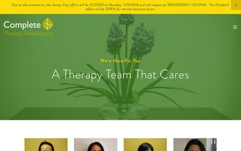 Screenshot of Team Page cprnj.com - Physical Therapist | Acupuncturist | Complete Physical Rehabilitation - captured Jan. 30, 2016
