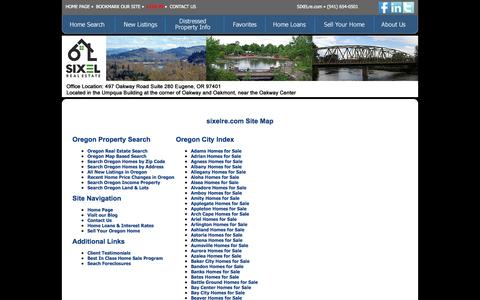 Screenshot of Site Map Page sixelre.com - SIXEL Real Estate - captured Oct. 26, 2014