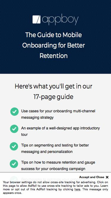 Mobile Onboarding Guide | Appboy
