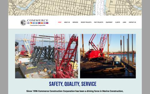 Screenshot of Home Page commerceconstruction.com - Commerce Construction - captured Oct. 2, 2014