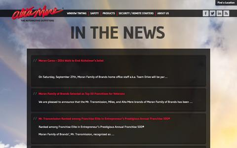 Screenshot of Press Page altamere.com - The latest car accessories in the news | Alta Mere - captured Sept. 30, 2014