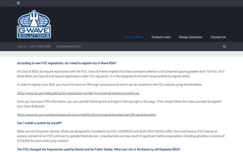 Screenshot of FAQ Page gwaverf.com - GWAVE SolutionsFrequently Asked Questions - GWAVE Solutions - captured July 14, 2018