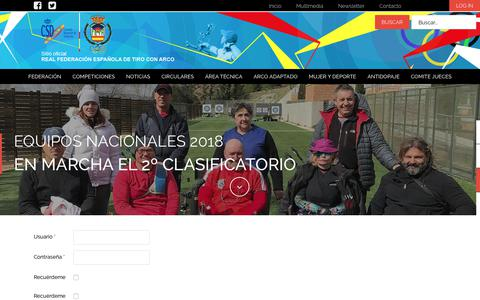 Screenshot of Signup Page federarco.es - Real Federación Española de Tiro con Arco - captured April 15, 2018
