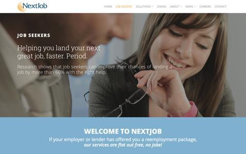 Screenshot of Jobs Page nextjob.com - Job Seekers | NextJob - captured Oct. 29, 2016