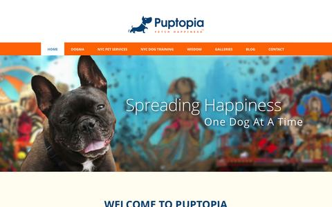 Screenshot of Site Map Page puptopianyc.com - Dog Walker NYC | Dog Trainer NYC | Manhattan | Brooklyn | Puptopia - captured Oct. 3, 2014