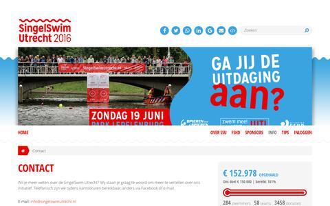 Screenshot of Contact Page singelswimutrecht.nl - Contact - captured Dec. 19, 2016