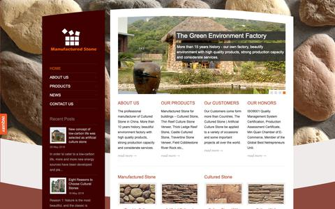 Screenshot of Home Page manufactured-stone.com - Manufactured Stone | Artificial Culture Stone | Cultured Stone Supplier - captured Oct. 24, 2018