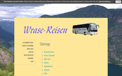 Screenshot of Site Map Page jimdo.com - Sitemap - Wrase-Reisen - captured April 4, 2017