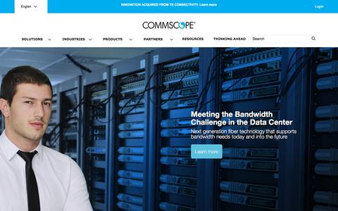 Screenshot of Home Page commscope.com - CommScope.com - captured Oct. 24, 2015