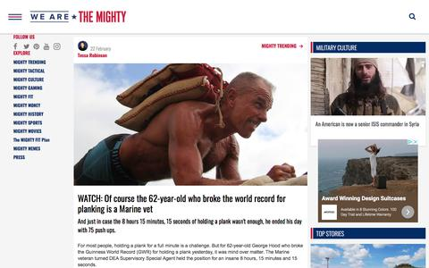 Screenshot of Press Page wearethemighty.com - Americas Military Entertainment Brand - MIGHTY TRENDING - captured Feb. 24, 2020