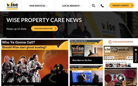Screenshot of Press Page wisepropertycare.com - Wise Property Care   News - captured Nov. 7, 2017