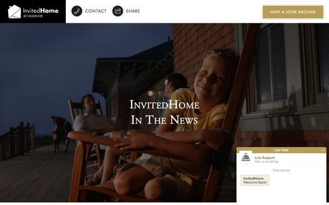 Screenshot of Press Page invitedhome.com - InvitedHome In The News - Recent Press | InvitedHome - captured Nov. 17, 2015