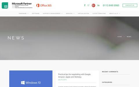 Screenshot of Blog 101it.co.uk - IT Support Blog - 101IT - captured Jan. 10, 2016