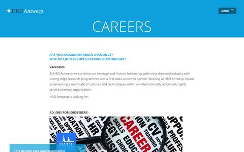 Screenshot of Jobs Page hrdantwerp.com - HRD Antwerp - captured Oct. 13, 2016