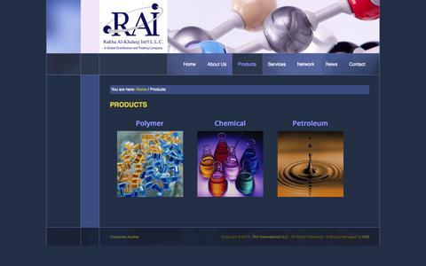 Screenshot of Products Page rai-uae.com - Products - Rakha Al-Khaleej Int'l, Dubai - UAE - captured Oct. 6, 2014