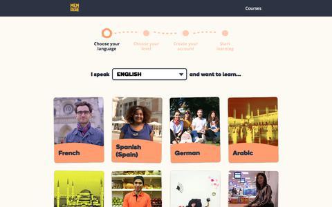 Screenshot of Signup Page memrise.com - Memrise - captured Feb. 4, 2020