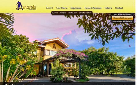 Screenshot of Home Page amarelaresort.com - Resort - Amarela Beach ResortAmarela Beach Resort | Panglao, Bohol, Philippines - captured Feb. 5, 2016