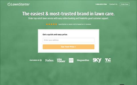 Screenshot of Home Page lawnstarter.com - LawnStarter, The Easiest Way To Order Lawn Care   | The Easiest Way To Order Lawn Care - captured Nov. 30, 2015