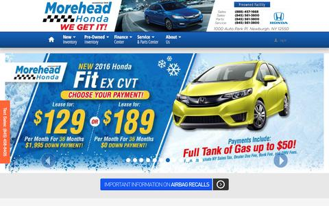 Screenshot of Home Page moreheadhonda.com - Morehead Honda | New Honda dealership in Newburgh, NY 12550 - captured Dec. 22, 2016