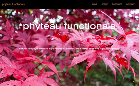 Screenshot of Home Page phyteau.co - phyteau functionals - captured Oct. 2, 2014