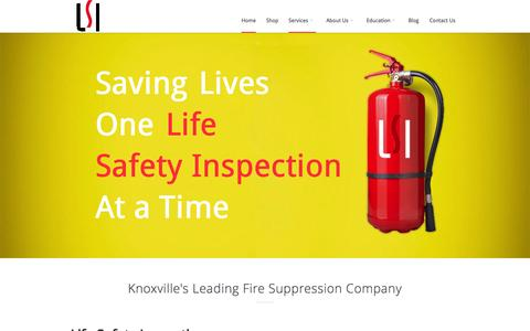 Screenshot of Home Page lsitn.com - Knoxville Fire Extinguishers | Commercial Hood Inspections - captured Sept. 19, 2015