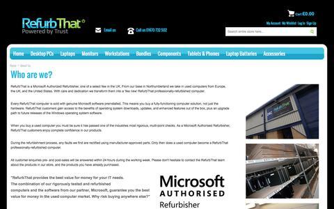 Screenshot of About Page refurbthat.com - About Us | RefurbThat - captured Dec. 5, 2015