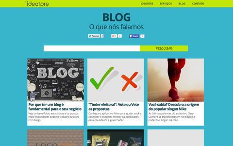 Screenshot of Blog ideatore.com.br - Blog | Propaganda, Marketing, Desenvolvimento, Branding | Ideatore - captured Sept. 30, 2014