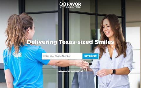 Favor Delivery - Anything Delivered - Favor Delivery