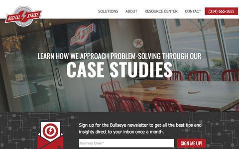 Screenshot of Case Studies Page digitalstrike.com - Case Study Archives - Digital Strike Targeted Marketing - captured Dec. 8, 2019