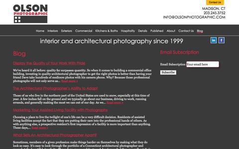 Screenshot of Blog olsonphotographic.com - Blog   Olson Photographic - captured Oct. 7, 2014
