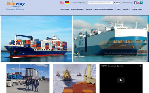 Screenshot of Home Page shipway.com.ar - Shipway Transport Solutions - captured Feb. 14, 2016