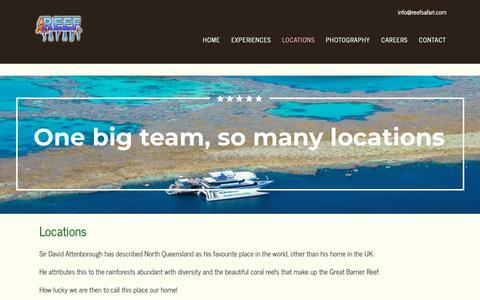 Screenshot of Locations Page reefsafari.com - Locations | Reef Safari - captured Nov. 7, 2018