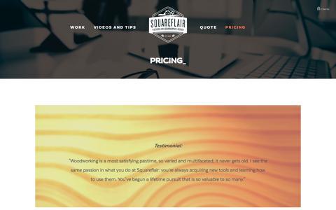 Screenshot of Pricing Page squareflair.com - Pricing — Squareflair - captured June 18, 2017