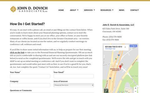 Screenshot of Contact Page jdovich.com - Contact - John D. Dovich & Associates - captured Oct. 16, 2017