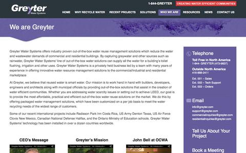 Screenshot of Team Page greyter.com - We are Greyter | Creating Water Efficient Communities - captured Oct. 3, 2014