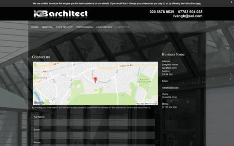 Screenshot of Contact Page igb-architect.co.uk - Contact Us - London   IGB Architect - captured May 26, 2017