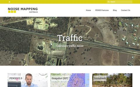 Screenshot of Home Page noisemapping.com.au - Noise Mapping Australia - captured Feb. 15, 2016