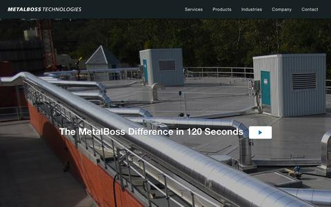 Screenshot of Home Page metalboss.com - Home - Metal Boss - captured Feb. 13, 2016