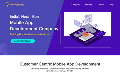 Screenshot of Services Page ignovatesolutions.com - Mobile Application Development Company India | Hire iOS & Android Developers - captured July 10, 2018