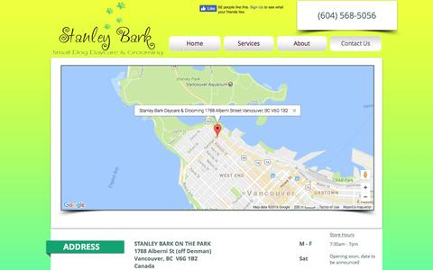 Screenshot of Contact Page stanleybark.com - Stanley Bark Dog Daycare | Vancouver BC - captured Dec. 9, 2016